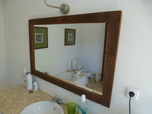 bathroom mirror